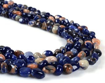 0802 Sodalite Pebble Chips loose gemstone beads 16""