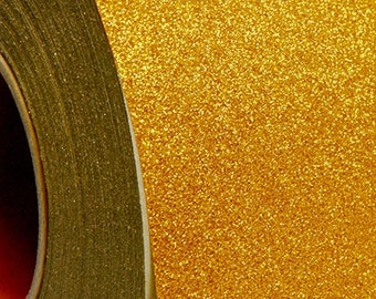 "Glitter Gold 20"" Heat Transfer Vinyl Film By The Yard"