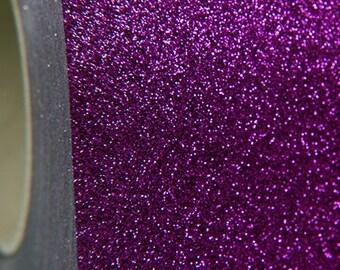 "Glitter Violet 20"" Heat Transfer Vinyl Film By The Yard"