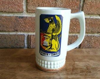 Vintage Griffin of Edward III Mug, Beer Stein, Made in Japan