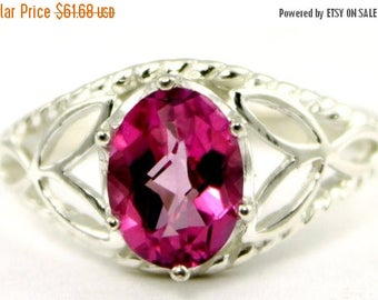 On Sale, 20% Off, Pure Pink Topaz, 925 Sterling Silver Ring, SR137