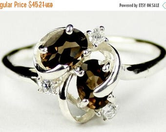 On Sale, 30% Off, Smoky Quartz, 925 Sterling Silver Ladies Ring, SR016