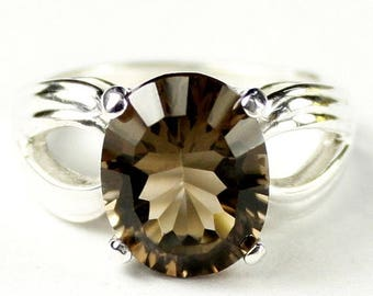 On Sale, 30% Off, Smoky Quartz, 925 Sterling Silver Ladies Ring, SR361
