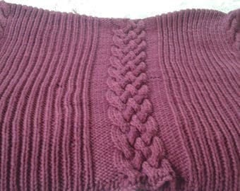 Made to Order Chunky Knit Blanket, Soft Merino wool blanket, Bulky knit blanket, Chunky knit afghan, Handknit afghan, Bulky knit afghan