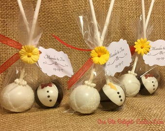 Bride and Groom, 12 pops Choose any tie color. Sold individually wrapped