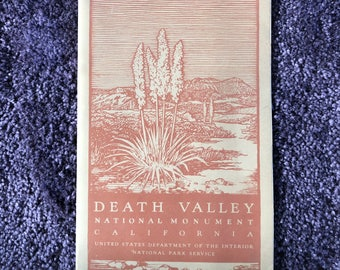 1934 Death Valley National Monument Booklet