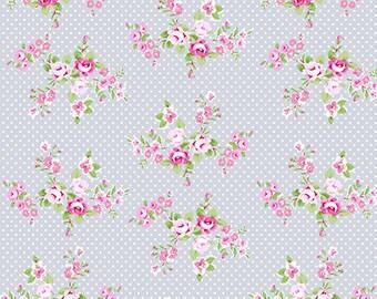 Charlotte Gray Spring Bouquet Yardage SKU# PWTW147.GRAYX  by Tanya Whelan for Free Spirit Fabrics