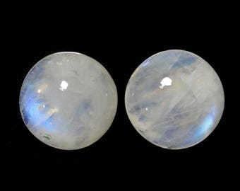 Cabochon Cut Rainbow Moonstone Round Shape 14mm Beautiful Play of Color Approximately 16 Carat (8719)