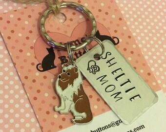 Sheltie gift, Shetland Sheepdog gift, Sheltie Key Ring, dog gift,  dog lover gift, gift for him, gift for her,