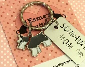 Schnauzer gift, Schnauzer gift, Schnauzer Key Ring, dog gift,  dog lover gift, gift for him, gift for her,