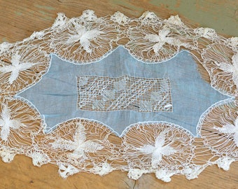 Lace Doily, Antique Lace Table Topper, Handmade