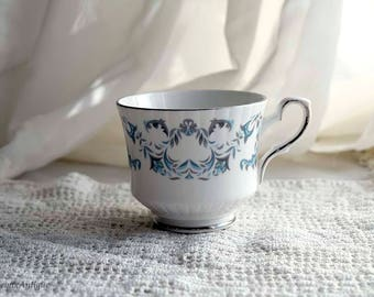 Vintage Royal Stafford Bone China Made in England 'Harmony' pattern Single Coffee Cup Retro English Chinaware Vintage Cottage Chic China Cup