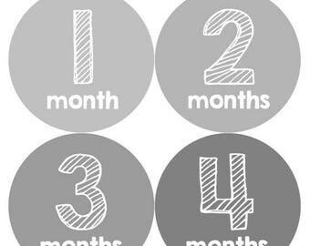 Monthly Baby Milestone Stickers Baby Boy Baby Shower Gift One-Piece Baby Stickers Monthly Baby Stickers Baby Month Sticker 327