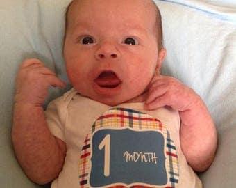 Monthly Baby Milestone Stickers Baby Boy Baby Shower Gift One-Piece Baby Stickers Monthly Baby Stickers Baby Month Sticker 156