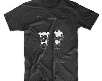 Cartoon Character Patent T Shirt, Cartoon Shirt, Betty Boop, Cartoon Portrait, Movie T Shirt, PP0738