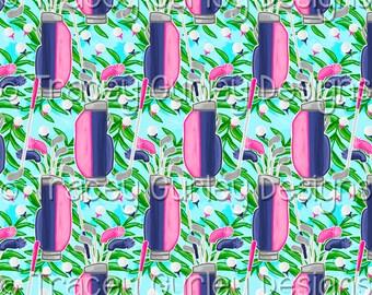 Golf bag digital paper, pink and navy, preppy digital paper, golf clubs, golf balls, digital scrapbooking, digital download, golf bag