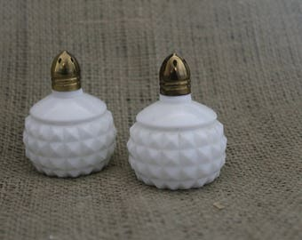1970's Hobnail Salt and Pepper Shakers