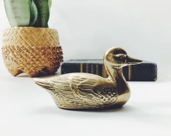 Antique Brass Duck