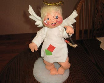 """VINTAGE  12"""" Annalee  Naughty  Angel Doll 1980's Excellent Condition"""