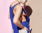 CUSTOM Tburns00 - Zmf X John Brumley - Unisex Linen Artist Coverall - ROYAL BLUE