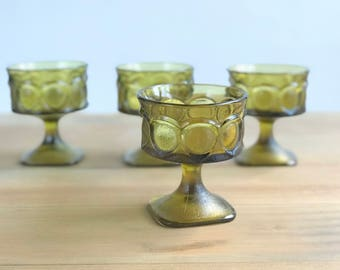 Kings Crown Glass Desert Cups / Sherbet Cups Set of 4