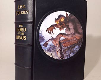 The Lord of the Rings Tolkien Alan Lee 1991 *RARE* 1st Edition Leather-Bound