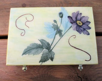 Hand Painted and Decoupage Wooden Box