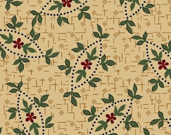 Pam Buda fabric 1800's Civil War Prairie Stitches Heartspun Quilts 832 tan burgandy green floral sew/quilting Marcus 100% cotton fabric BTY