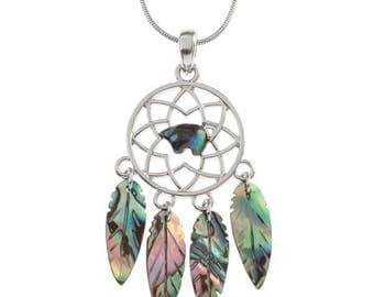 Tide Jewellery Paua Shell Spirit Bear Dream Catcher Pendant Gift Boxed