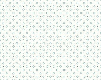Bee Backgrounds - Diamonds Turqoise by Lori Holt of Bee in My Bonnet for Riley Blake, 1/2 yard, C6386-Turquoise