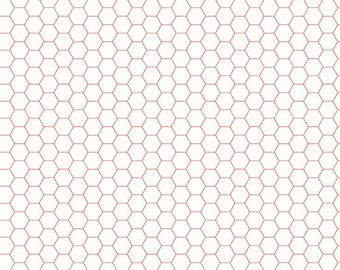 Bee Backgrounds - Honeycomb Red by Lori Holt of Bee in My Bonnet for Riley Blake, 1/2 yard, C6387-Red