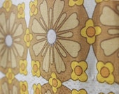 60s tablecloth fabric, curtain fabric, cotton blend