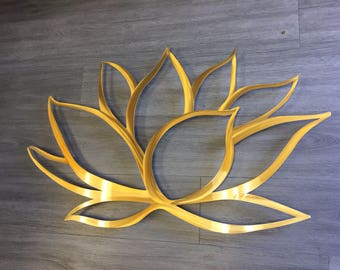 Gold Lotus Flower Metal Wall Art Lotus Metal Art Home Decor Metal Art