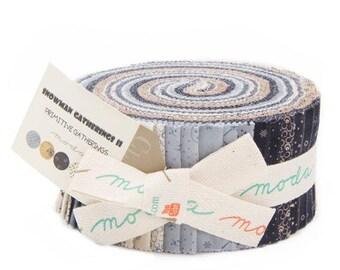 "Snowman Gatherings II Jelly Roll -  (42) 2 1/2"" x 44"" Strips Cotton Quilt Fabric - Primitive Gatherings for Moda Fabrics - 1140-JR (W3909)"