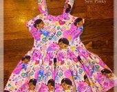 Doc Mcstuffins Dress, Doc Mcstuffins Birthday dress, birthday tutu, Purple Doctor Dress, Love Doc Mcstuffins Birthday tutu, birthday party