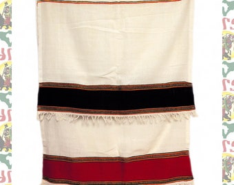 Ethiopian Traditional Woven Cotton Shawl (Scarf-a21)