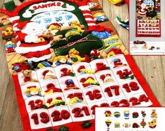 Bucilla From Santa's Workshop Advent Calendar ~ Felt Christmas Kit #86833, Toys