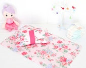 Nappy Wallet and Change Mat Set - Baby Shower Gift - Spring Rose