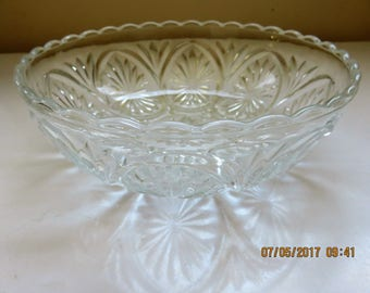 Cut Glass Bowl  Star shape pattern