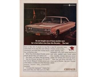 Vintage poster advertisement for a 1966 Chrysler - 43