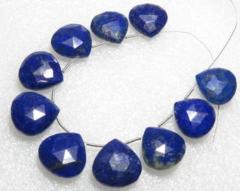 Lapis Lazuli - Faceted - 5 Matching Pairs - Heart Shape - size 16x16 mm