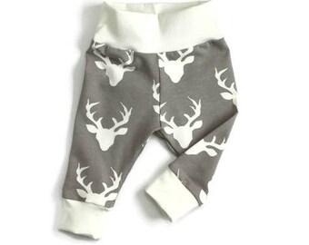 Deer baby leggings, deer leggings, boy leggings, going home outfit, baby legging, baby boy legging, baby outfit, baby pants, toddler legging