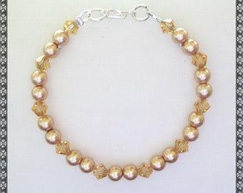 yellow bracelet, gold, gold bracelet, yellow, amber, amber bracelet, crystal
