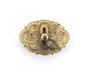 Vintage Brooch Gold Toned Metal, Vintage Pins, Gifts for Mom