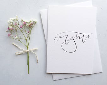 Congrats Greeting Card / Hand Lettered Modern Calligraphy / Congratulations