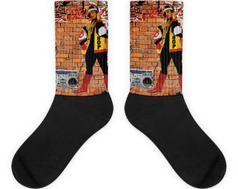 Old School Hip Hop B-Girl All Over Sublimation Socks