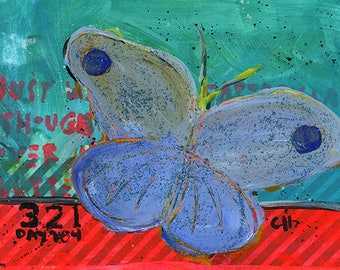 Project 321 - Day 184: Blue Butterfly