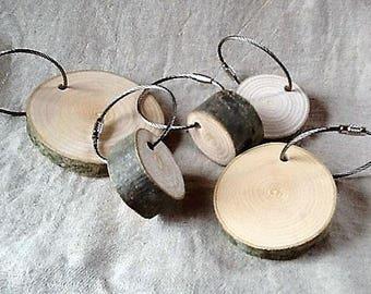 5 Porte-clefs en bois