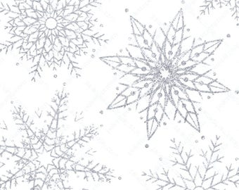 Silver snowflake overlay, silver Christmas clipart, silver snowflake clipart, commercial use instant download