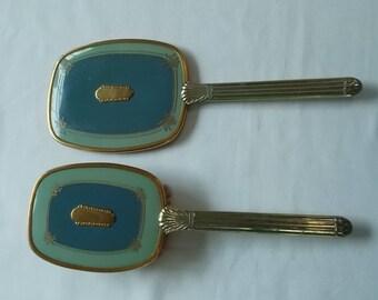 Vintage Brush and Mirror Set.  (640)